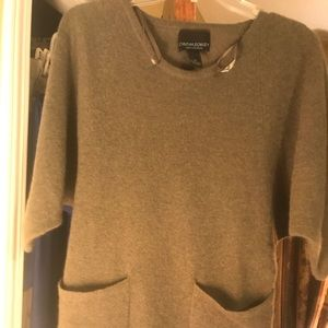 Cynthia Rowley 100% Cashmere Short Sleeve Sweater